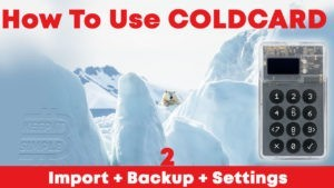How to use coldcard