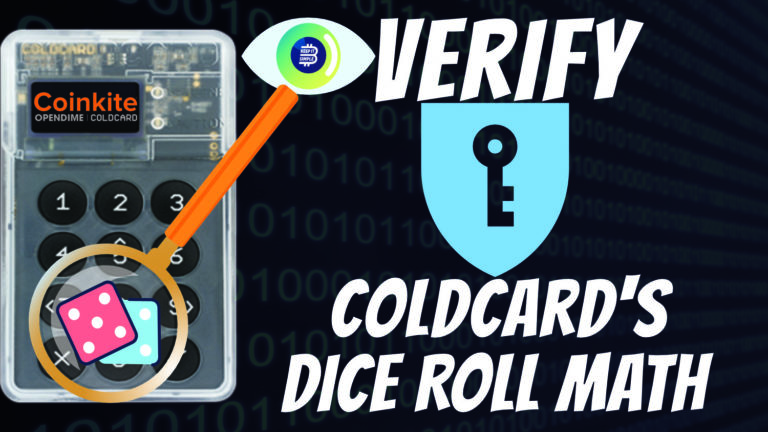 Coldcard's dice roll math