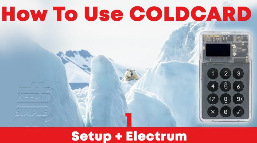 Setup Coldcard Bitcoin Hardware Wallet