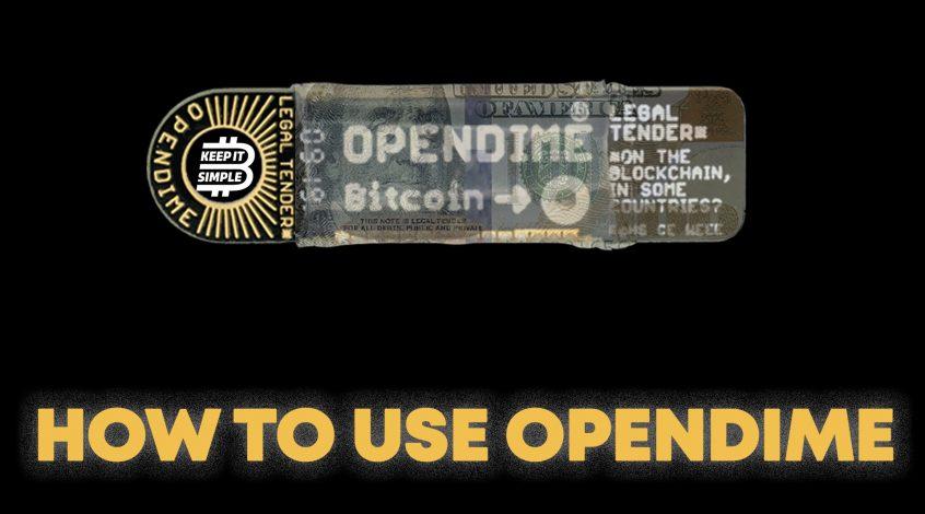Opendime Bitcoin USB Stick Wallet